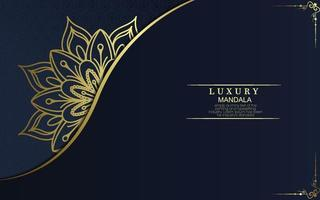 lyx prydnads mandala bakgrund med arabisk islamisk östmönster stil premium vektor