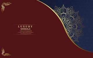 Luxus-Ziermandala-Hintergrund mit Premium-Vektor des arabischen islamischen Ostmusterstils vektor