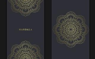 floraler und mandala dekorativer dekorativer Rahmenhintergrund-Luxusprämienvektor vektor