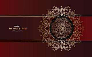 Luxus Gold Mandala verzierten Hintergrund für Hochzeitseinladung, Buchcover vektor