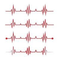 Herzschlag-Logo und Symbolvektor vektor