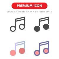 Musiknoten-Symbolpaket lokalisiert auf weißem Hintergrund. für Ihr Website-Design, Logo, App, UI. Vektorgrafiken Illustration und bearbeitbarer Strich. eps 10. vektor
