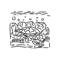 spara ocean monoline design illustration vektor