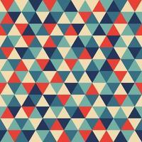 Retro geometrisches Dreieck nahtlos wiederholendes Hintergrundmuster vektor