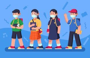 Gruppe von Studenten Charakter vektor