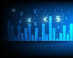Symbolanalyse, Börsenindex oder Grafik, Finanzgeschäft und Geldtransfer vektor
