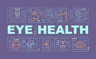 ögon hälsa ord koncept banner vektor