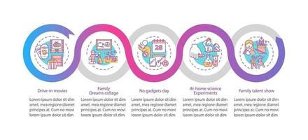 Familienspaß Ideen Vektor Infografik Vorlage