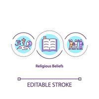 Konzeptikone der religiösen Überzeugungen vektor