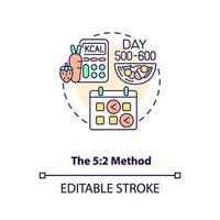 das Symbol für das 5-2-Methodenkonzept vektor