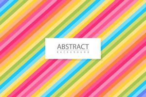 abstrakter bunter Hintergrund mit schrägen Linien vektor