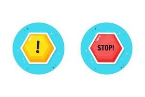 Warn- und Stoppsymboldesign vektor