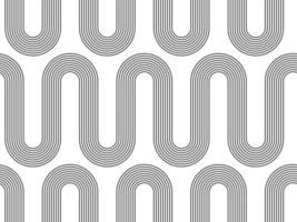abstraktes geometrisches boho nahtloses Muster. Vektorhintergrund mit abstrakter Wellentextur. vektor