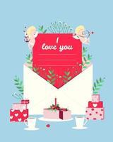 Postkarte mit einer Liebeserklärung