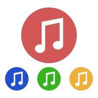 Musiknote auf weißem Hintergrund eingestellt vektor