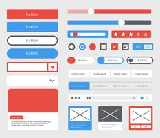 Wireframe Element Template Vektor