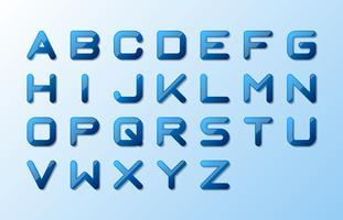 Wasser Alphabet Großbuchstaben vektor