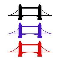 Brücke auf weißem Hintergrund eingestellt vektor