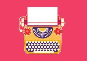 Flache Art-moderne Weinlese-stilvolle Schreibmaschine vektor