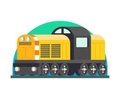 Lokomotivillustration vektor