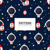 astronaut sömlösa mönster vektor