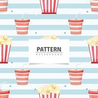 sömlösa mönster popcorn design vektor