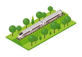 Lokomotive isometrisch vektor