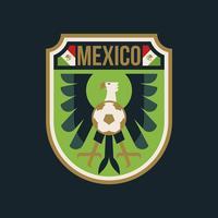 Mexiko VM fotbollsignaler vektor