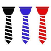 Krawatte auf weißem Hintergrund eingestellt vektor