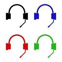Kopfhörer auf weißem Hintergrund vektor