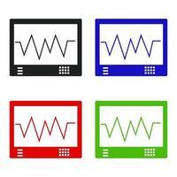 Satz von EKG auf weißem Hintergrund vektor