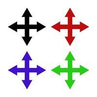 Pfeil auf weißem Hintergrund gesetzt vektor