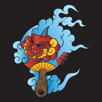 Japanische Tätowierungs-Vektor-Illustration