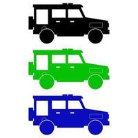 Satz Jeeps auf weißem Hintergrund vektor