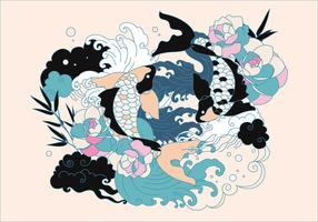 Japanischer Tätowierungs-Vektor