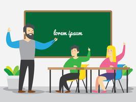 Lehrer geben Quiz vektor