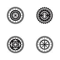 kompass ikon logotyp formgivningsmall