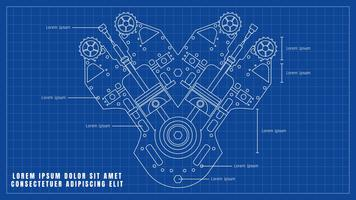Schöne Automotor-Zeichnungs-Vektoren vektor