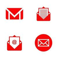 e-post ikon logotyp formgivningsmall vektor
