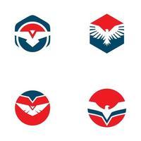 örn fågel ikon logotyp formgivningsmall