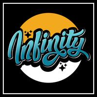 Infinity Typografie vektor