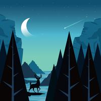 Nationalpark-Illustration