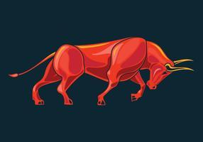 Angy Bull mit aggressiver Bewegung vektor