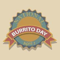 burritodagstecken och märke vektor