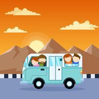 Hervorragende Familienurlaub-Vektoren