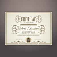 modernt certifikatmall