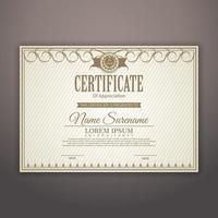 modernt certifikat. examensbevis för prestationsmall.