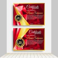 professionelle Zertifikatvorlage Diplom Award Design. Innenhintergrund. vektor