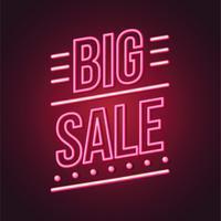 Leuchtreklame Big Sale