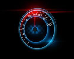 Geschwindigkeitsmesser Bewegung Hintergrund Auto. Renn- und Geschwindigkeitshintergrund. vektor
